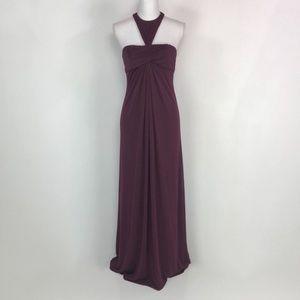 JILL Jill Stuart Halter T Back Plum Dress
